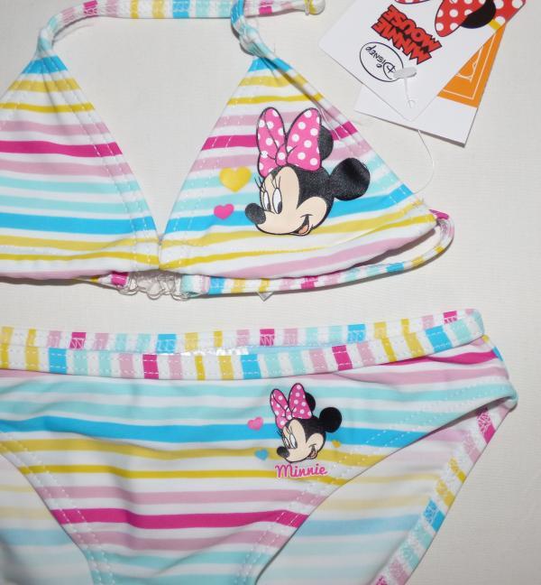 Dívčí plavky - Minnie,dvojdílné - pruhované