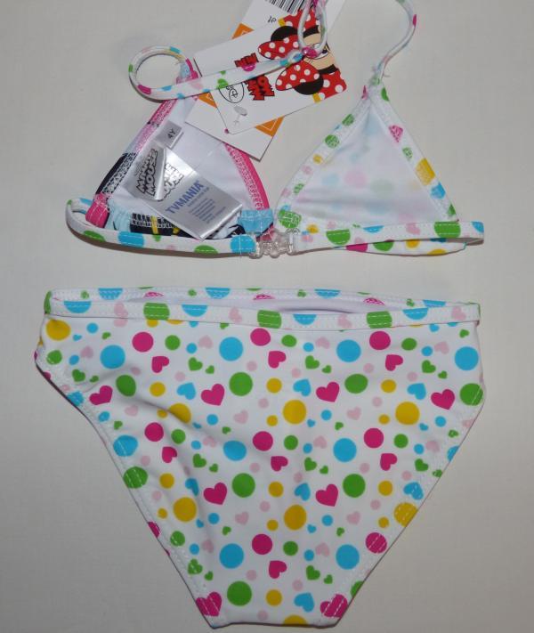 Dívčí plavky - Minnie,dvojdílné - puntíkované