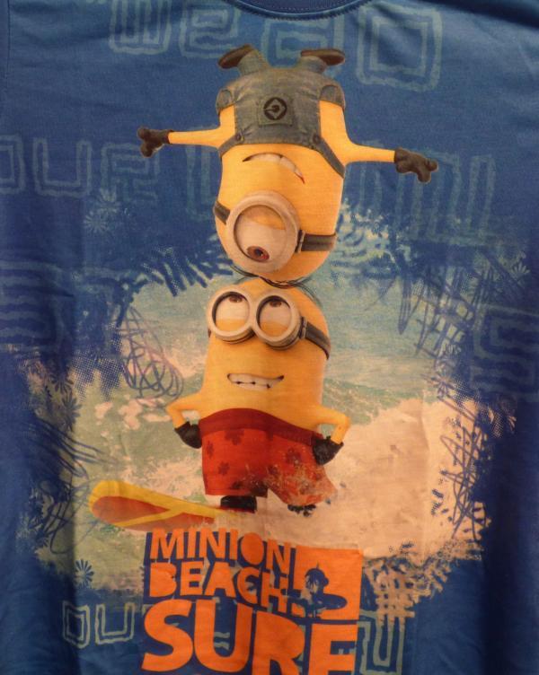 Chlapecké tričko - Mimoni, modré, krátký rukáv