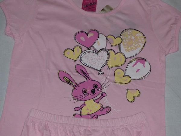 Dívčí pyžamo - se zajíčkem a balonky, sv.růžová