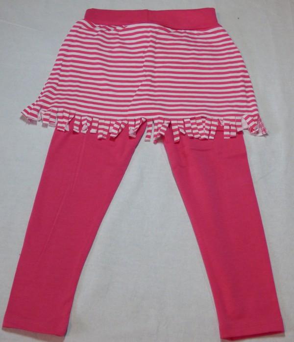 Dívčí legíny se sukní - růžová