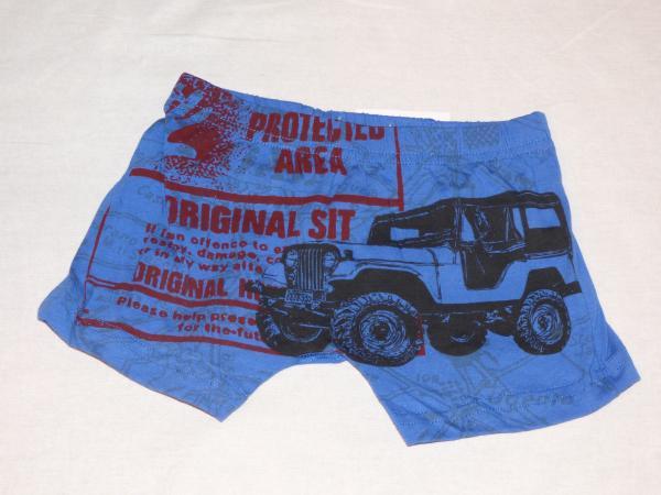 Chlapecké boxerky - tmavě modré - s autem