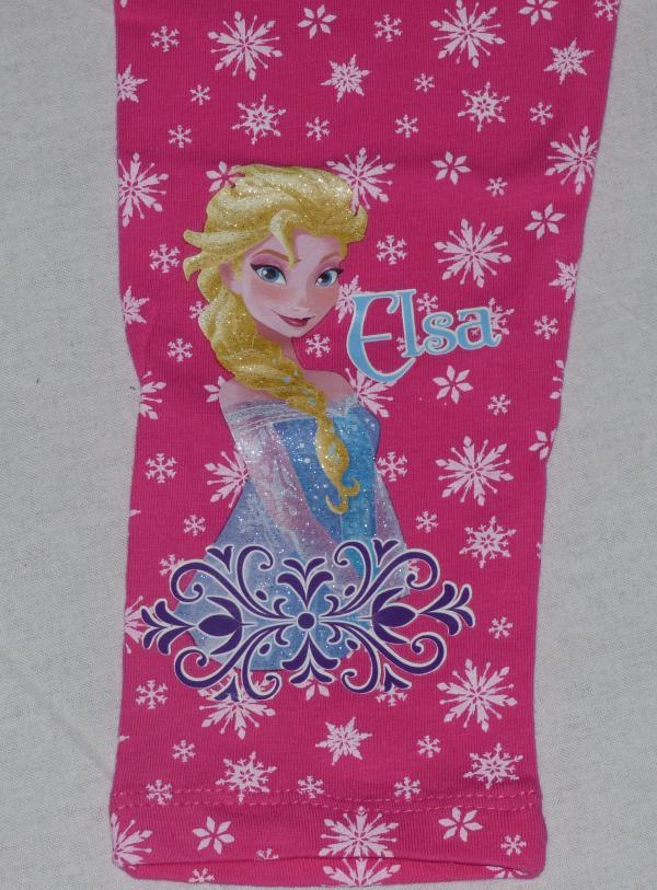 Dívčí legíny Frozen s vločkami - růžové