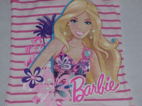 Dívčí šaty na ramínka - Barbie, bílé, pruhované