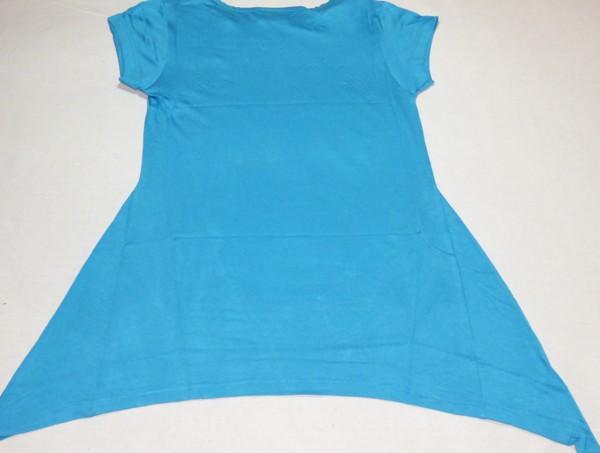 Dívčí tričko - se srdcem, modrá