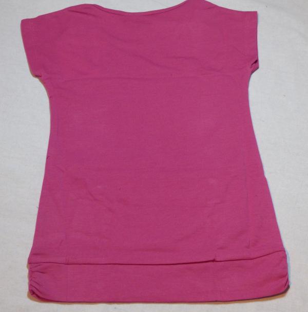 Dívčí tričko - s kočkou, fialová