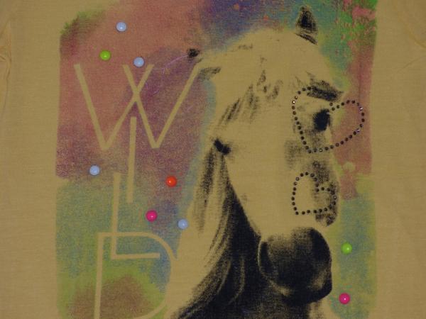 Dívčí tričko - žluté s koněm