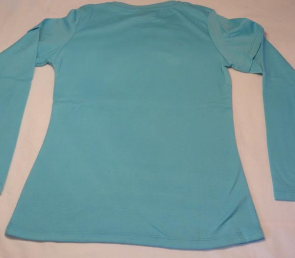 Dívčí tričko - s kytkou,sv.modré,dl.r.
