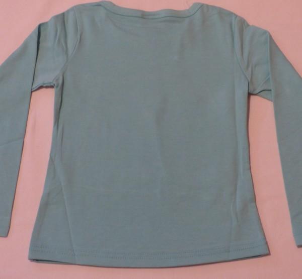 Dívčí tričko dl.r. - koně, Little - zelené