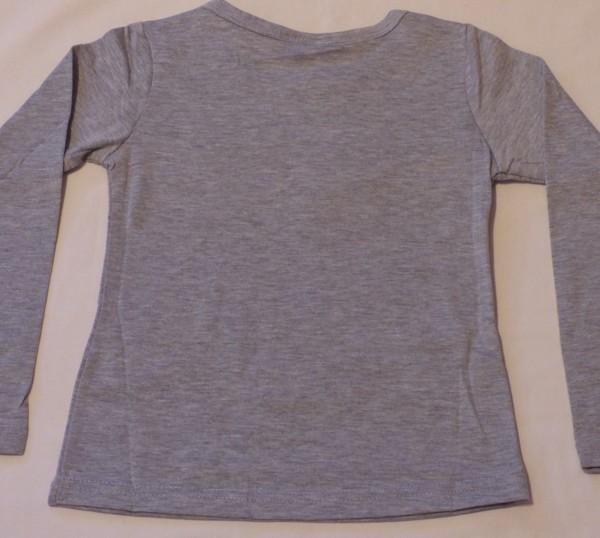 Dívčí tričko dl.r. - koně, Little - šedé