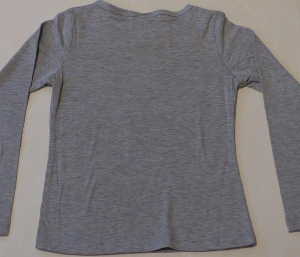 Dívčí tričko dl.r. - koně, LOVE - šedé