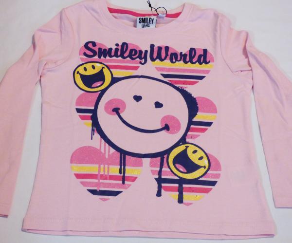 Dívčí tričko dl.r. - Smile, sv. růžové