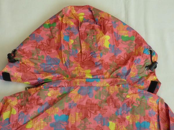 Dívčí šusťáková bunda - růžová s motýlky