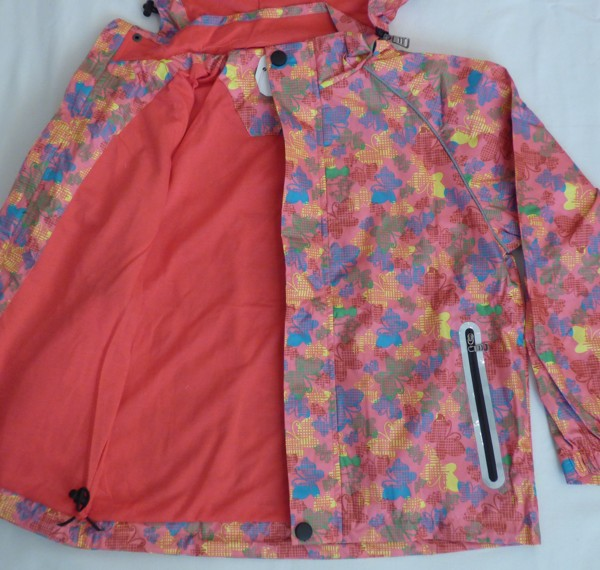 Dívčí šusťáková bunda - s motýlkama