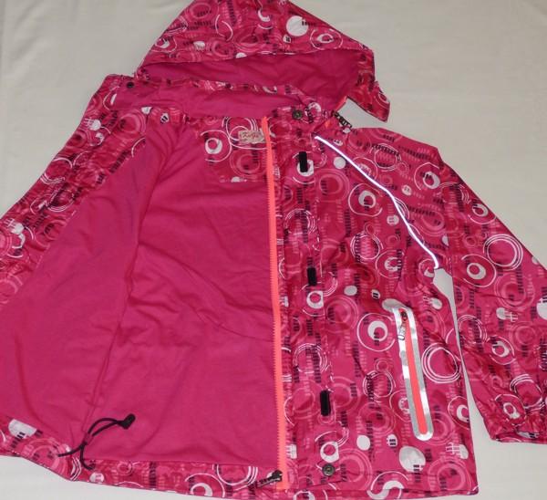 Dívčí šusťáková bunda - s kolečkama