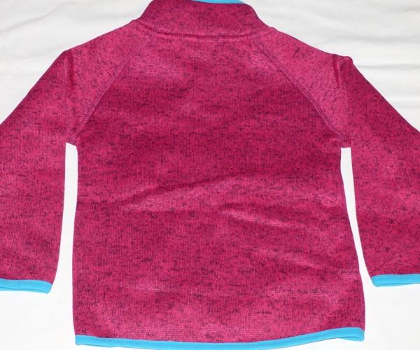 Dívčí mikina - teplá - růžová