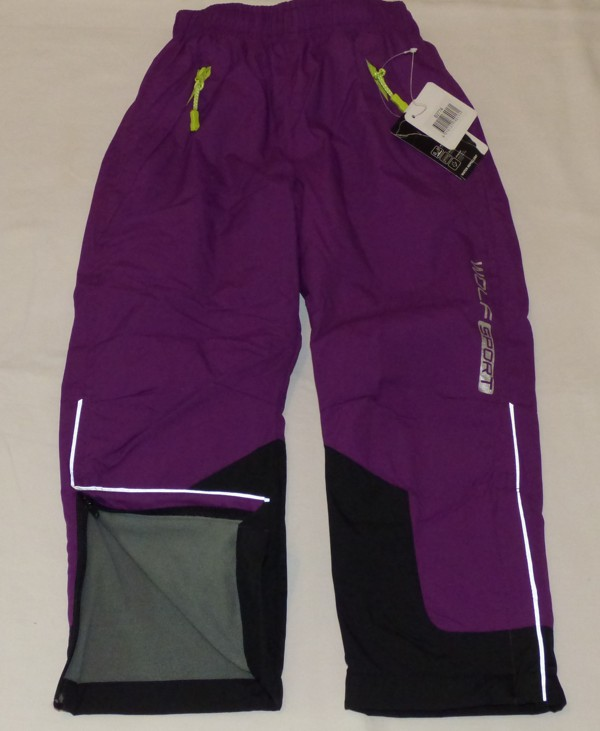 Dívčí a chlapecké zateplené kalhoty - fialové