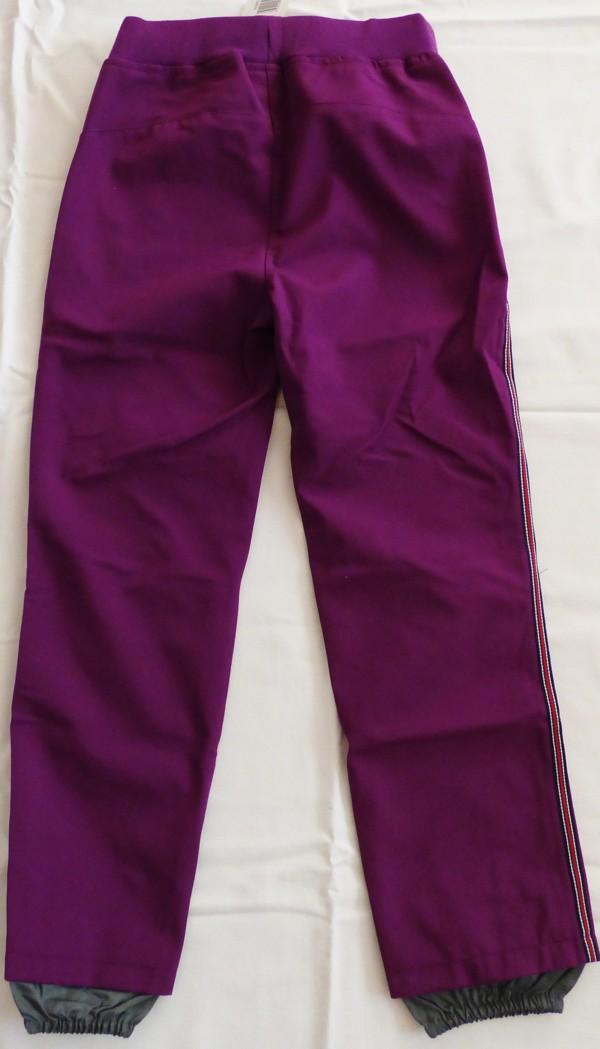 Dívčí kalhoty softshell - fialové