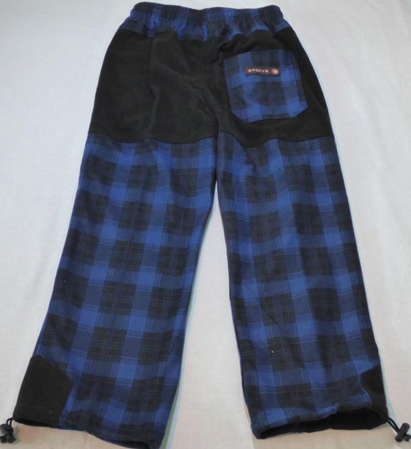 Chlapecké outdoorové kalhoty - modro-černé