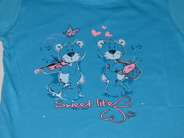 Dívčí pyžamo - Medvídci, dl., modré