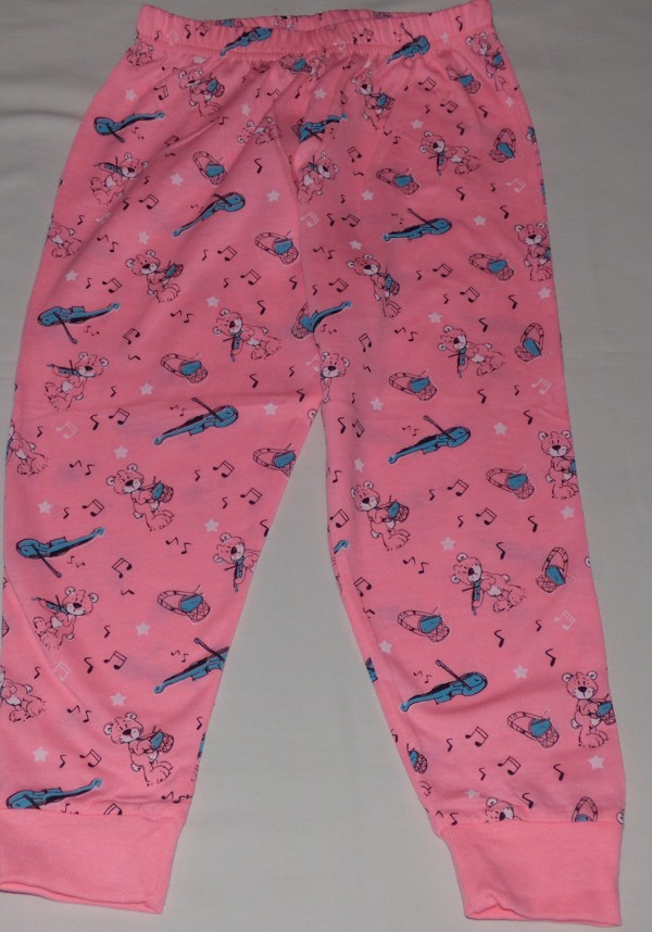 Dívčí pyžamo - Medvídci, dl., růžové