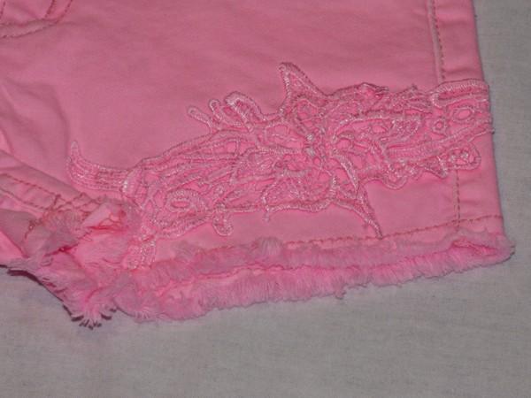 Dívčí šortky - s krajkou, růžové
