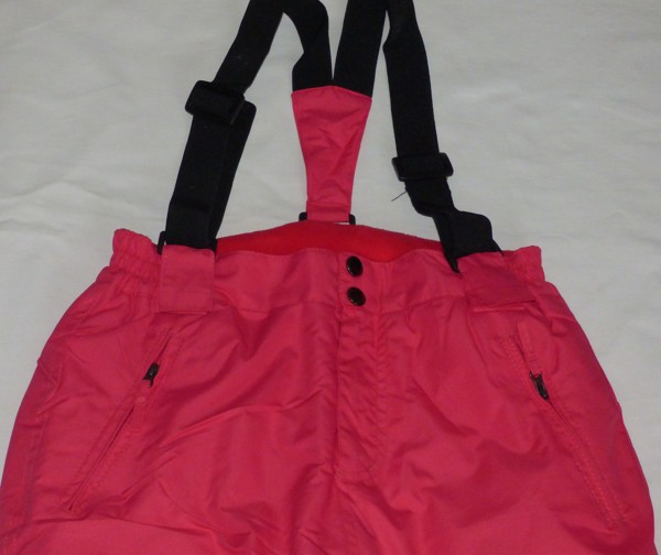 Lyžařské kalhoty - dívčí, tmavorůžové