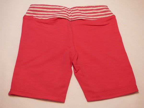 Dívčí šortky - s pruh.pasem - růžovo-oranžové