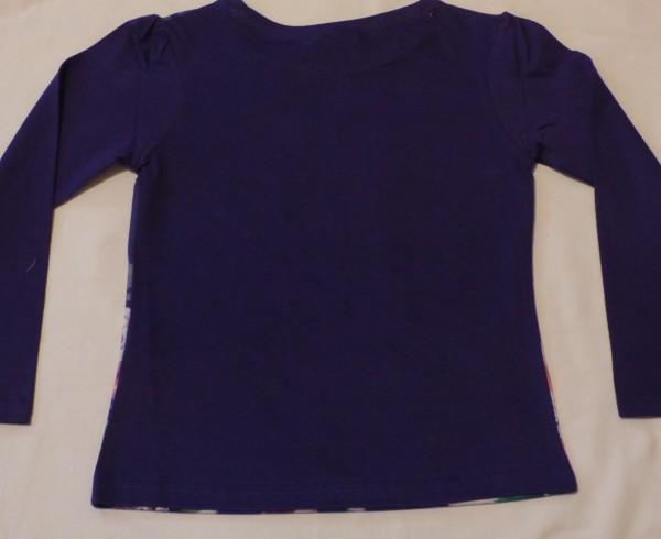 Dívčí tričko dl.r. - Ledové království, fialové