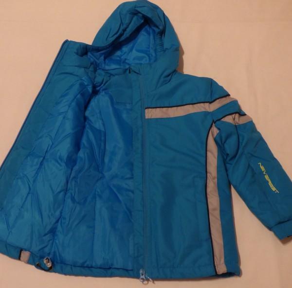 Lyžařská bunda - pruh, modrá
