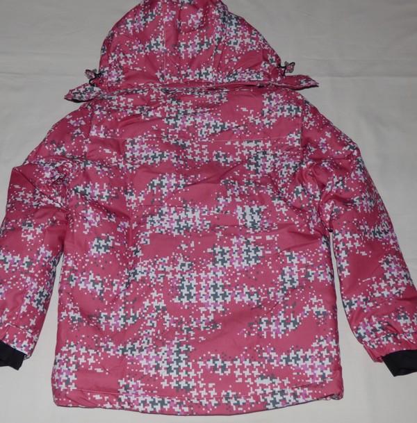 Lyžařská bunda - kostky, růžová