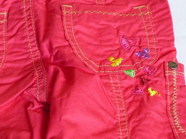 Dívčí kalhoty - plátěné,růžové