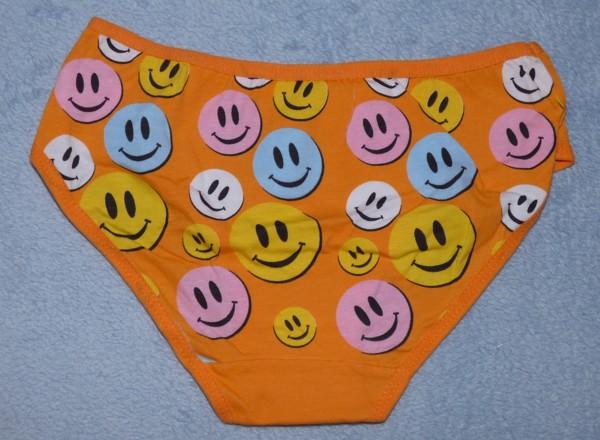 Dívčí kalhotky - smile, oranžové