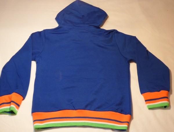 Chlapecká mikina - N.Y.,modrá s oranžovou šňůrkou