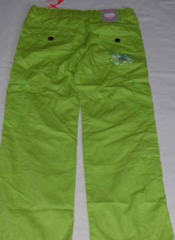Dívčí kalhoty - plátěné,pistáciové