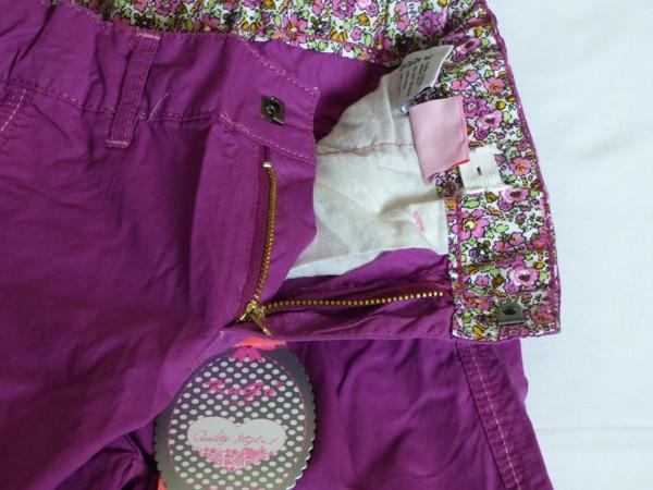Dívčí kalhoty - plátěné,fialové