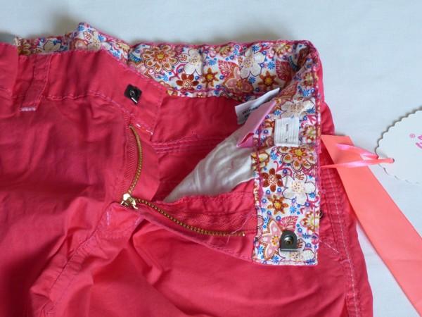 Dívčí kalhoty - plátěné,červené