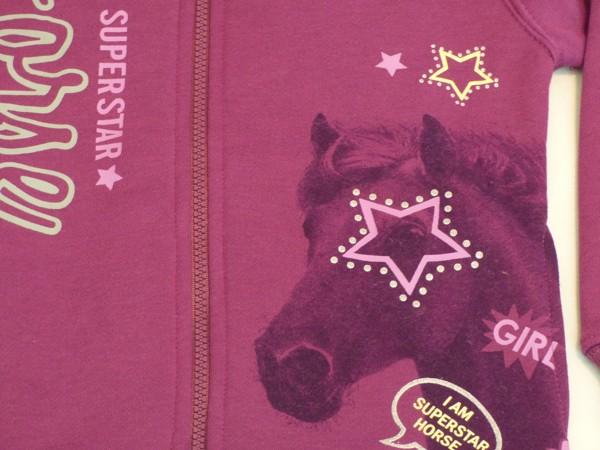 Dívčí mikina teplá - Kůň, fialová