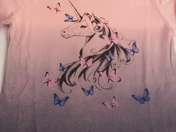 Dívčí tričko s jednorožcem, dl.r. - šedé