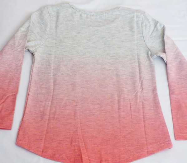 Dívčí tričko s jednorožcem, dl.r. - růžové