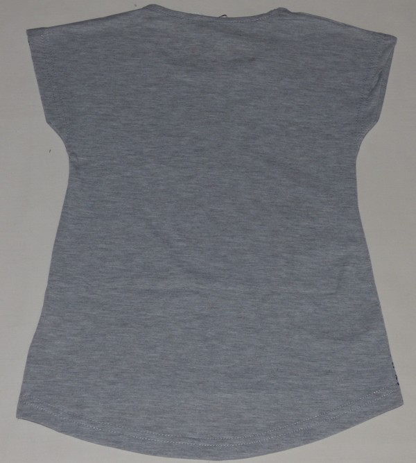Dívčí tričko - srdce a kamínky - šedé