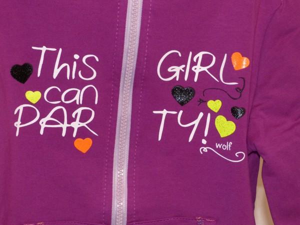 Dívčí mikina tenká - fialová
