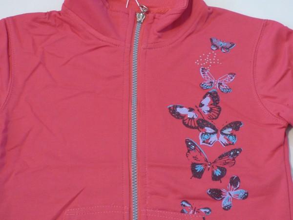 Dívčí mikina - motýli - růžová