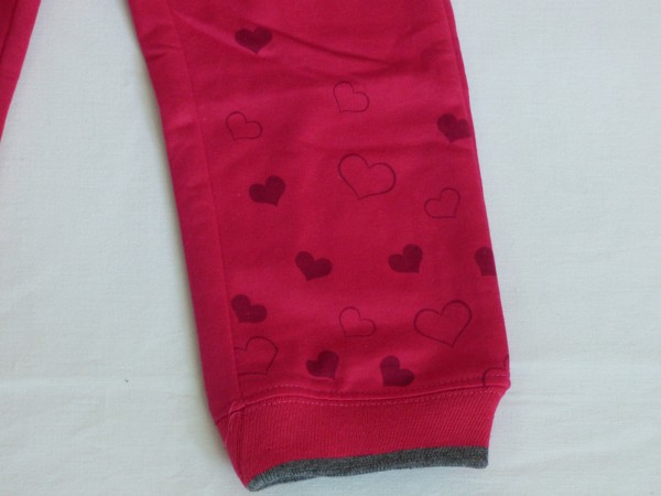 Dívčí tepláky - srdíčka, růžové
