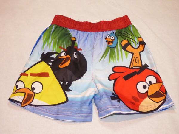 Chlapecké koupací šortky - červené, Angry Birds