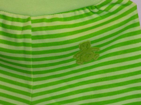 Tepláky kojenecké - zelené, pruhované