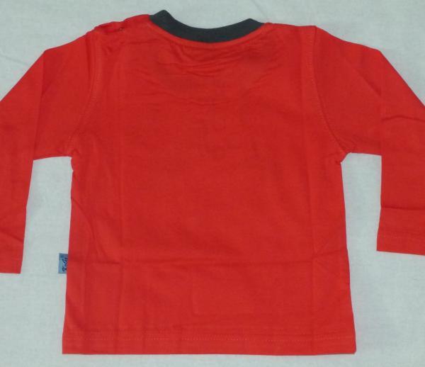 Chlapecké tričko s kostrou dinosaura - červené