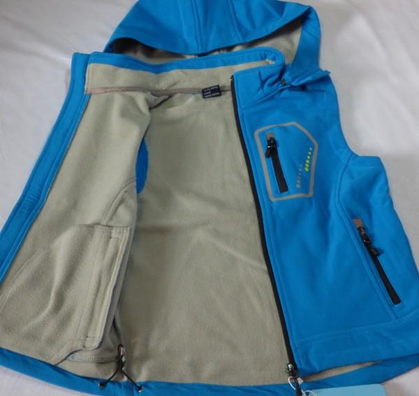 Chlapecká softshelová vesta - s flaušem, sv. modrá