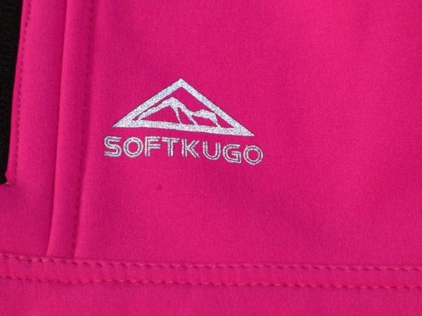 Dívčí softshelová vesta - s flaušem, růžová