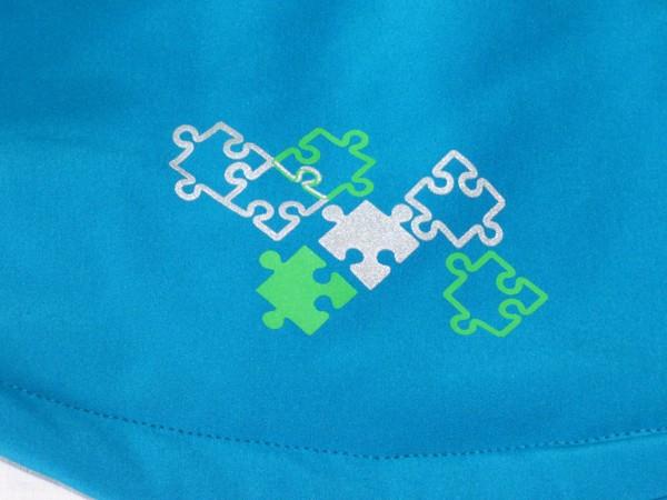 Chlapecká softshelová bunda - s flaušem, modrá